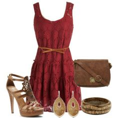 i look really good in dark red soo ya be jelly Dress Up Outfits, Women's Fashion Dresses, Girl Fashion, Womens Fashion, Country Girl Style, Playing Dress Up, Style Me, Style Inspiration, Clothes