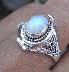 poison moon stone ring