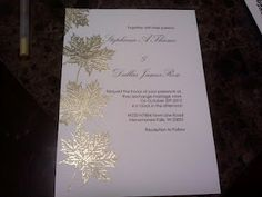 Gold Leaf embossed Invites- love the colors!