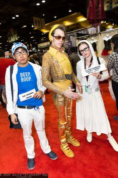 Hipster R2-D2, C-3PO, and Princess Leia Organa #C2E2 #2014
