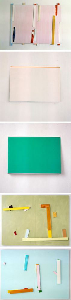 Imi Knoebel at Galerie Graesslin Gallery    via http://www.galerie-graesslin.de/bilder/knoebel/knoebel16.htm