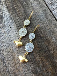 Matte Origami Bird Earrings Gold and Silver by DeborahLynnJewelry