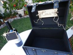Trunk Wedding Card or Program Holder  Faux Leather by ChiKaPea, $46.00