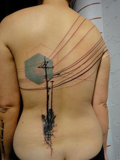 gorgeous modern graphic tattoos - photos posted by Mike Silver.  telephone wires