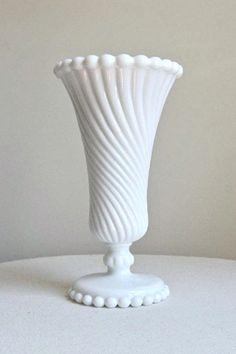 Vintage Milk Glass | Vintage trumpet-form Milk Glass Vase « Kristen Kieffer