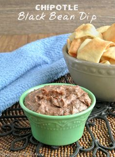 Chipotle Black Bean Dip is a bit spicy and goes with many different kinds of chips and veggies. No stove to turn on and you can whip up a batch in no time.
