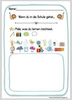 Vorbereitungen: 1. Schultag 1. Klasse - Bilderbuch: Wenn ein Löwe in die Schule geht...
