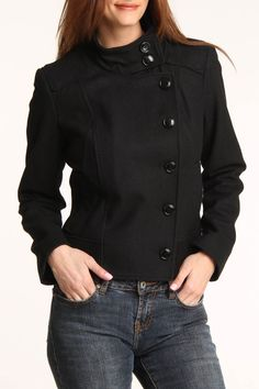 Kenneth Cole Sue Jacket In Black -