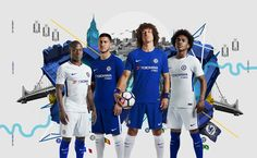 London-based Studio Blup has designed an advertising campaign to mark the launch of the new Chelsea Football Club kit for 2017-2018.