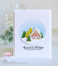 Merriest Of Holidays Card by Kay Miller for Papertrey Ink (October 2015)