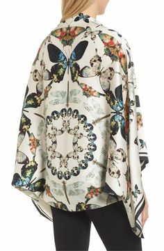 c3d3a2631189 Main Image - Ted Baker London Butterfly Kaleidoscope Silk Cape Scarf Cape  Scarf