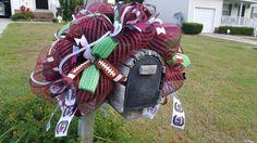 University of South Carolina Carolina football mailbox deco mesh cover