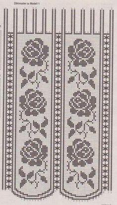 Detalle de la imagen de -Tags: cortinas crochet patrones+gratis  Rose graph pattern