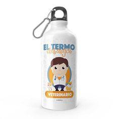 Termo - El termo del mejor veterinario, encuentra este producto en nuestra tienda online y personalízalo con un nombre. Water Bottle, Drinks, Carton Box, Bottles, Store, Crates, Drinking, Beverages, Water Bottles