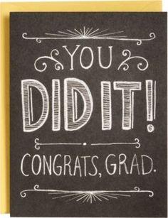 Chalkboard Graduation Card