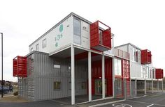 Looks like an awesome container building. http://www.out-backstorage.com