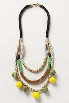 Anthropologie - Jackfruit Layered Necklace {like the layered colored cord}