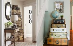 Travelin Dreams 18 Ideas How To Reuse Old Suitcases In Home Decor