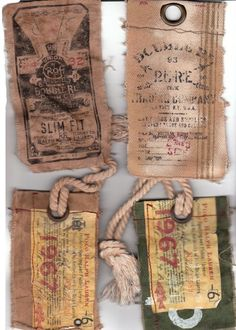 see clothing tags can be art.  These are begging to be re-used in some way!