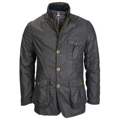 Barbour Kempt Wax Jacket, Large fastening buttons with full zip. Navy or Olive wax coating, Barbour Wax Jackets Mens Wax Jackets, Cool Jackets, Casual Jackets, Barbour Jacket Mens, Waxed Cotton Jacket, Safari Jacket, Clothing Photography, Gentleman Style, Shirt Jacket
