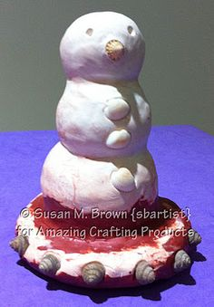 Casting a Sand Snow Man Ornament using Amazing Mold Putty and Amazing Casting Resin