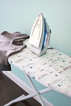 Ironing Board Cover DIY - A BEAUTIFUL MESS