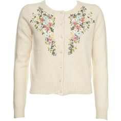 Topshop - Knitted Embroidery Cardigan