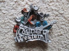 Buckle Vintage 1981 Country Western Band Music 3-D by HobbitHouse