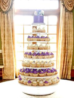 Large Wedding Cupcake Stand 8 Tier Round Dessert Tower. $160.00, via Etsy.
