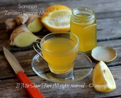 Sciroppo zenzero limone e miele contro tosse e raffreddore