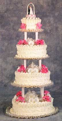 Roeser's Bakery of Chicago creating extraordinary custom wedding cakes.  We ordered our cake from here in 1966.