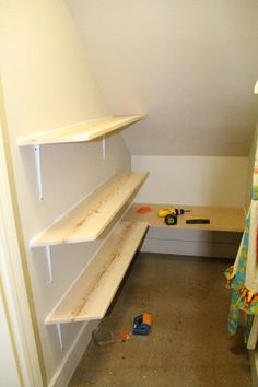 DIY My New Closet DIY Furniture - my under-the-stairs closet is exactly like this!!