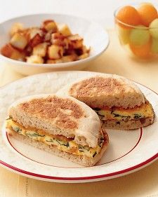 Breakfast Sandwich | Eating breakfast can help kids stay alert and do better in class. What better motivation to whip up a healthy and yummy meal in minutes? Our back-to-school recipes won't slow you or your kids down during morning rush hour.