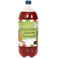 Woodland Christmas Personalized 2-Liter Bottle Label