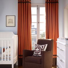 Ring Top Drapes With Contrast Banding Design Ideas, Pictures, Remodel, and Decor