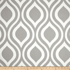 Premier Prints Emily Twill Storm - potential for window seat cushions, with orange piping