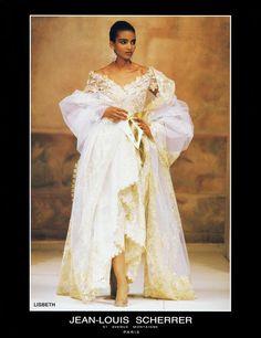 KHADIJA ADAMS Jean Louis Scherrer Show A/W 1990 VogueSpirit scan