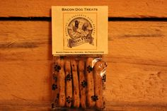 All Natural Bacon Dog Bones. A half dozen delicious delights per package which have such a decadent bacon flavor, that they will always be begging for more! No worries though, because each bone is all natural and healthy too!