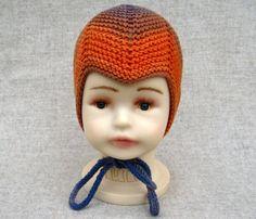 Classic Baby Hat Orange Violett Cotton von frostpfoetchen auf Etsy, €23.00