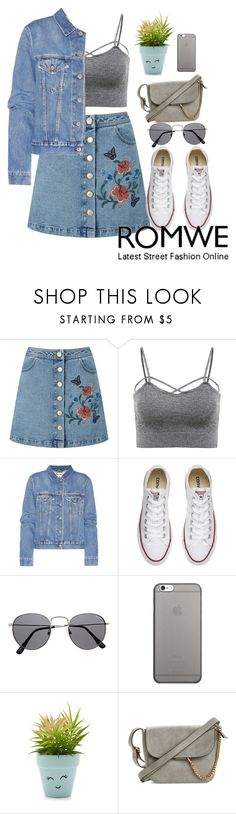 """""""jean"""" by shormi ❤ liked on Polyvore featuring Miss Selfridge, Acne Studios, Converse, Native Union and New Look"""