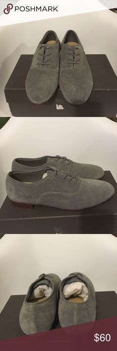 Men's Suede Shoes Grey, Suede lace up shoes by Generic Surplus. Never worn. Shoes Oxfords & Derbys
