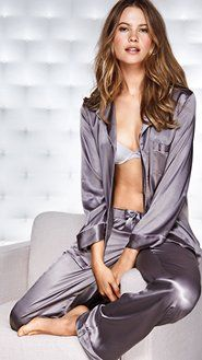 Women's Pajamas: Flannel, Cotton, Silk, Cami Pajamas & Boyshort Sets at Victoria's Secret