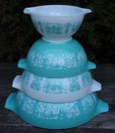 Turquoise Vintage Pyrex