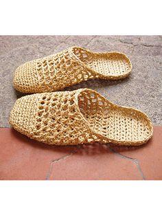 Raffia Sandals Basic Slipper
