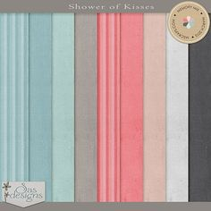 Showers of Kisses - Solid Papers | SAS Designs