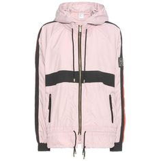 P.E Nation Man Down Zip Through Jacket ($170) ❤ liked on Polyvore featuring outerwear, jackets, pink, pink zip jacket, zipper jacket, zip jacket and pink jacket