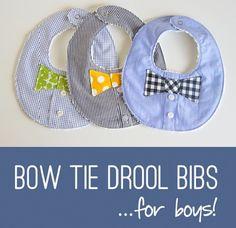 Craft Gossip - http://sewing.craftgossip.com/tutorial-baby-boys-bow-tie-drool-bib/2015/01/08/