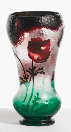 daum anemones vase | object | sotheby's n08999lot6yhr2en