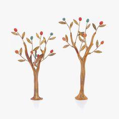 Metal & Ceramic Ornament Set