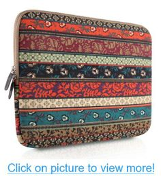 PLEMO Bohemian Style Canvas Fabric 13-13.3 Inch Laptop / Notebook / MacBook Sleeve Case Bag Cover